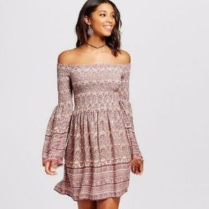 Xhilaration | Smocked Off Shoulder Dress